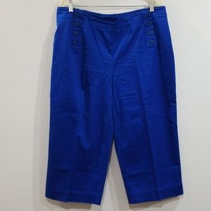 Linea Donna woman size 18W royal blue capri pants